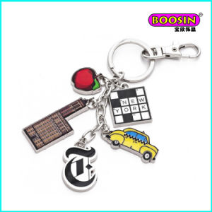 Promotional Wholesale Enamel Sports Charms Metal Keychain pictures & photos