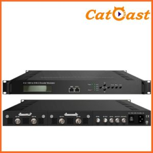 Low Delay 4* HDMI/Sdi Input 4 * Spts Output and RF Output MPEG4 HD Encoder Modulator