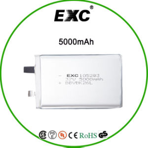 Customized High Quality 105283 3.7V 5000mAh Lipo Battery for GPS pictures & photos