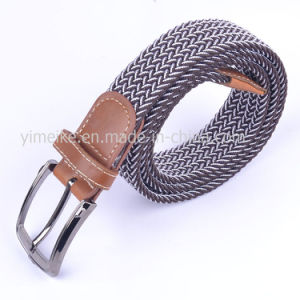 New Arrival Laser Alloy Buckle Unisex Casual Fabric Elastic Belt pictures & photos