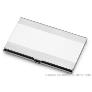 High Quality Stainless Steel Business Card Holder with Laser Printing Logo pictures & photos