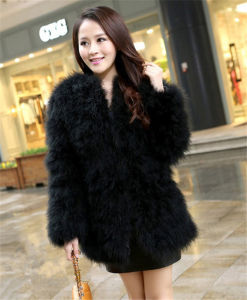 Custom Womens Fur Coats Turkey Ladies Rabbit Fur Coat pictures & photos