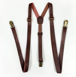 Wide Gentlemen Fashion PU High Quality Unisex Fashion Suspender pictures & photos