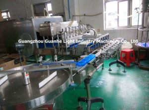 Automatic Bottle Ointment Filling Cooling Machine with Packaging Line pictures & photos