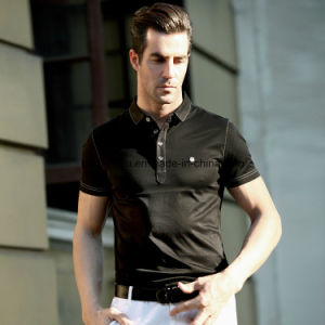 High Quality Skinny Pure Color Men Polo Shirt Sports Wear pictures & photos