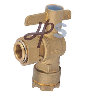 Brass Angle Type Water Meter Ball Valve with HDPE Pipe pictures & photos