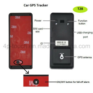 Long Standby Motorcycle/Car/Vehicle GPS Tracker with Geo-Fence and G-Sensor T28 pictures & photos