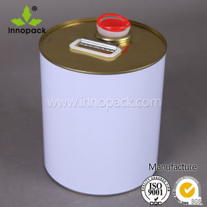 Custom Painted Metal Drum with Oil Spout 25L Oil Pail pictures & photos