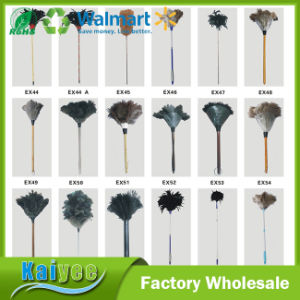 Household Cleaning Wood Long Handle Ostrich Feather Duster pictures & photos