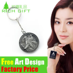 Logo Design Double Sides Toronto Trolley Promotion Coin Keychain pictures & photos