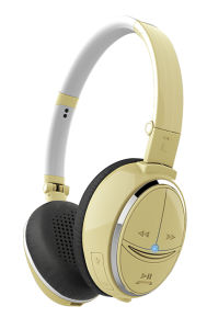 Gold Color Foldable and Adjustable Bluetooth Headsets pictures & photos