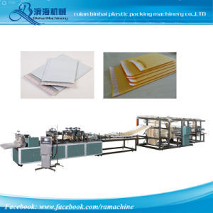 Double Side Seal Kraft Paper Bubble Envelope Bag Making Machine pictures & photos