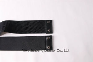 Woman Fashion Belt Waistband PU Belt Elastic Belt with Chinese Knot Jbe1635 pictures & photos