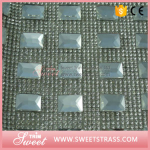 Rhinestone Covered Fabric Sheet to Iron on Shoes pictures & photos
