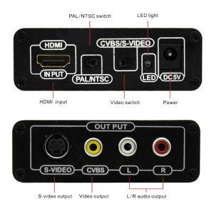 HDMI to RCA AV S-Video Converter pictures & photos