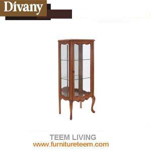 Luxury Solid Wood Door Kitchen Cabinet with Wine Rack Design pictures & photos