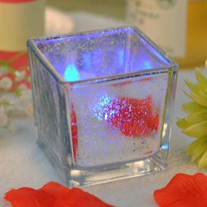 Square Electroplating Mercury Candle Holder pictures & photos