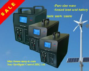 500W/800W/1000W Pure Sine Inverter with Solar Charger and Lead-Acid Battery