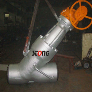 Y Type Cast Steel High Pressure Bw or Rtj Globe Valve pictures & photos