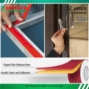 Sh361 Super Sticky Heat-Resistant 180c Acrylic Adhesive Tape for Mounting Somitape pictures & photos
