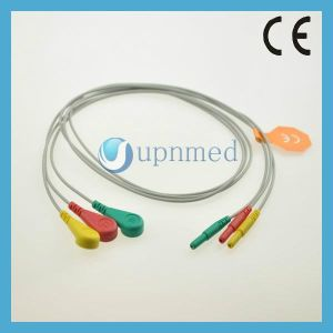Holter 3 Lead ECG Leadwires Set pictures & photos