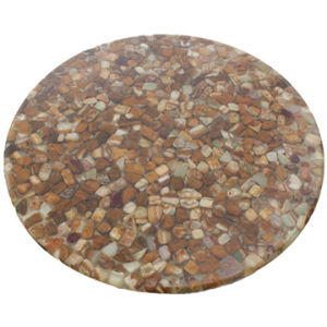 Cobblestone Resin Dining Table Top (RST-104) pictures & photos