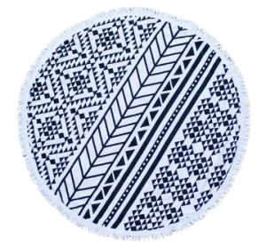 OEM Cotton or Microfiber Round Beach Towel with Tassels pictures & photos