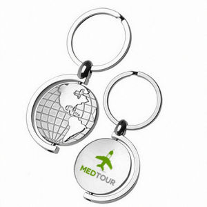 Promotional Spinning Global Earth Map Keychain with Color Logo (F1341) pictures & photos