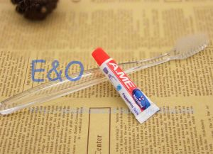 Hot Sale! Disposable Transparent Hotel Amenity Toothbrush pictures & photos