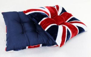 English Flag Printed Decorative Polyester Filling Outdoor Seat Cushion