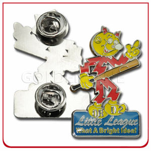 Custom Die Stamped Brass Synthetic Enamel Metal Lapel Pin pictures & photos
