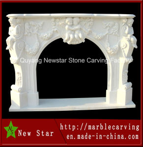 White Marble Fireplace Surround for Home Decoration pictures & photos