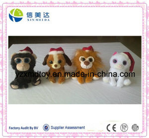 Custom Christmas Plush Animals Toy with Santa Hat pictures & photos