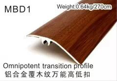 Mbe Series Wood Coated Multi-Functional Alu Flooring Profiles pictures & photos