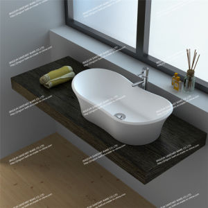 Modern Design Stone Resin Artificial Stone Bathroom Mineral Basin (JZ9024)