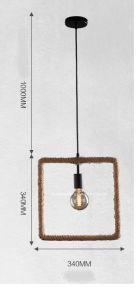 Retro-Style Hemp Rope Pendant Lamp/Creative Pendant Lamp pictures & photos