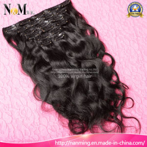 2017 New Fashion 7PCS 120g Clip in Human Hair Extensions Brazilian Virgin Hair Body Wave Clip Hair Products pictures & photos