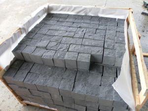 Zp Black Basalt Granite Garden Paving Cube in Split pictures & photos