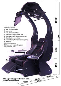 Ergonomic Reclining Gaming Workstation Chair  sc 1 st  Made-in-China.com & China Ergonomic Reclining Gaming Workstation Chair - China ... islam-shia.org