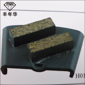 H01c Two Bars Diamond Segment for Grinding Concrete Surface