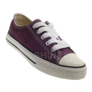 Basic Burgundy Vulcanized Canvas Shoes