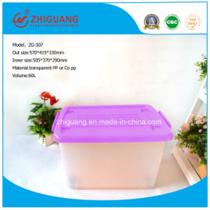 High Quality Plastic Products 60L Stackable Plastic Storage Box Packaging Box with Lids for Household Products pictures & photos