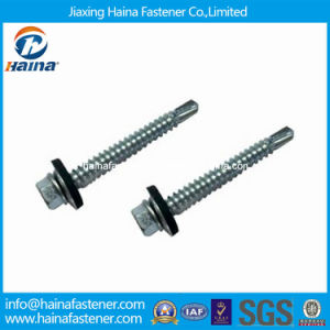 Zinc Plated DIN7504-K Hex Washer Head Self-Drilling Screw pictures & photos