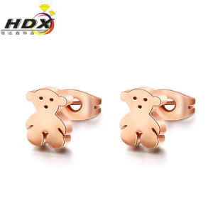 18k Rose Gold Bear Earrings Stainless Steel Jewelry (hdx1118) pictures & photos