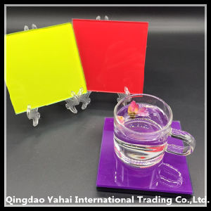 4mm Colored Decal Glass Coaster pictures & photos