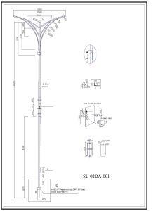 Street Galvanized Lighting Column Steel Pole pictures & photos