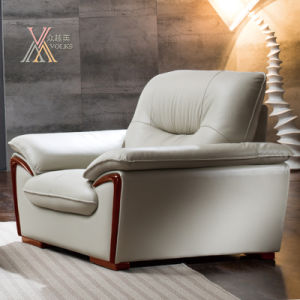 Living Room White Leather Sofa Set (821) pictures & photos