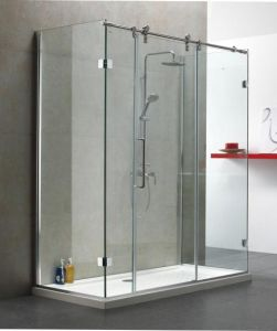 Cheap Frosted Glass Sliding Door for Shower Room pictures & photos