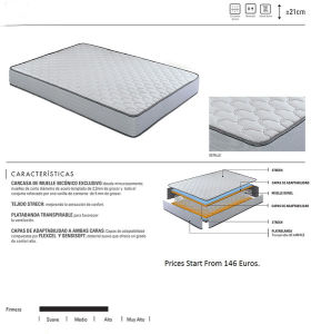 5 Star Hotel Furniture Double Pocket Coil Spring Mattress