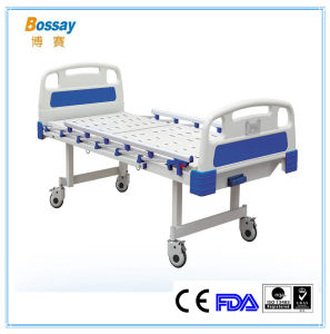 Cheap Manual Hospital Bed with Silence Casters Clinical Hospital Bed pictures & photos